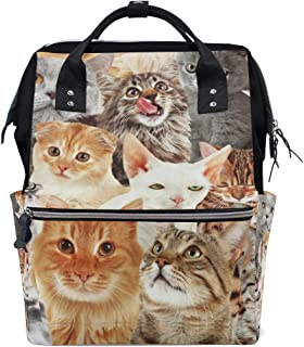 Backpack for Men Women, Many Cats Kitten Casual Water-Resistant College School Backpack