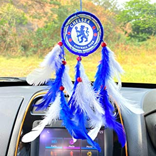 Rooh dream catcher ~ Chelsea Football Club Car Hanging ~ Handmade Hangings for Positivity (Can be used as Home Dcor Accent...