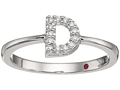 Roberto Coin Tiny Treasure Initial D Love Letter Ring (White Gold) Ring