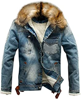 Mens Casual Top Long Sleeve Solid Turn-Down Collar Lamb Fur Coat Pullover Outerwear Hot NRUTUP Clearance Jackets /& Coats