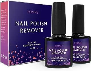 Pulchrie Magic Nail Polish Remover 2 Pcs Professional Removes Soak-Off Gel Nail Polish S1