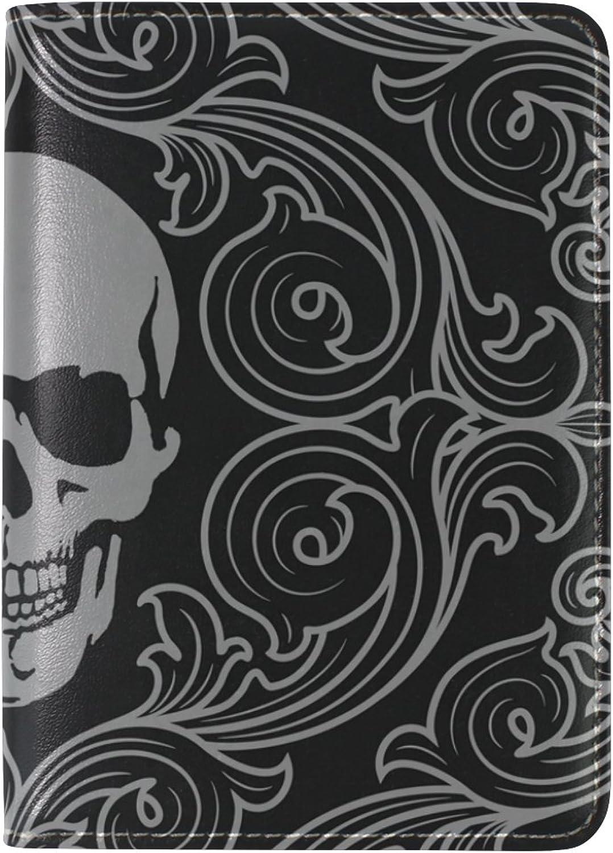 COOSUNSkull Muster Leder Reisepasshülle für Travel One Pocket Pocket Pocket B075MXDTT7  Schönes Aussehen 648710