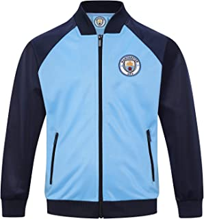 Manchester City FC Official Soccer Gift Boys Retro Track Top Jacket