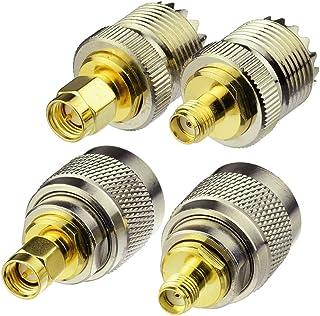 Eightwood CB Radio Adapter Kit SMA naar UHF 4 types voor CB Antenne SMA Antenne CB Radio Walkie Talkie Handheld Ham Radio ...