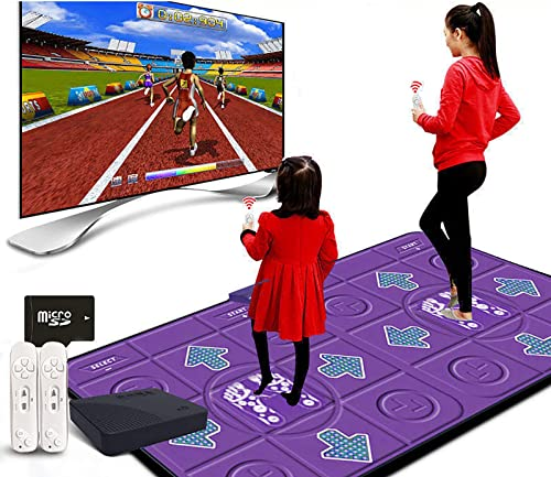 high quality Home Adult Kids Dance Mat Wireless Dance Mat Non-slip sale TV Game + 2 Remotes Wireless Dual User Dancing Step wholesale Pads, Dancing Mat for Kids 6-12 Dancing Toy outlet online sale