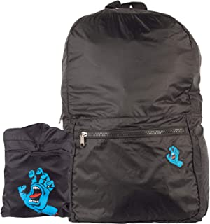 Screaming Hand Packable Black Backpack - One Size Fits All