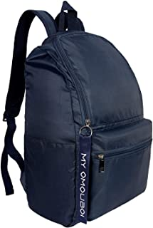 Backpack for Men and Women Unisex, OMOUBOI 14 Inch Waterproof Laptop Boys/Girls School Book Bag for Travel, Outdoor Camping, Traveling, Work, Business, College, Lightweight Slim Durable - Navy Blue