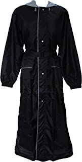 Divine Double Layered Full Length Raincoat for Women - Waterproof Rain Jacket with Attached Hood & Stylish Waist Belt - Multicolour
