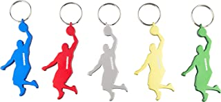 Munkees Athlete Bottle Opener Keychains, Mini Athletic Sports Can Opener Key Rings, Small Pocket-Sized Basketball & Soccer Players, Skiers, Runners, Bikers, Golfers and More