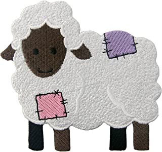 Sheep Patch Embroidered Applique Iron On Sew On Emblem