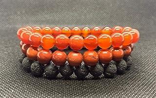 Sacral Chakra stack bracelets