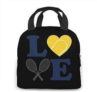 N\A Boîte de Rangement Love Tennis Lunchbox pour Femmes/Hommes, Enfants, Travail, école, Pique-Nique, Sac à bento pour déj...
