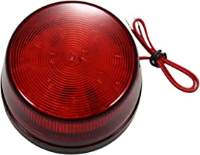 Sazoley Wired Alarm Strobe Signal Safety Warning LED Light Flashing Waterproof 12V 120mA Safely Security for Alarm System,...