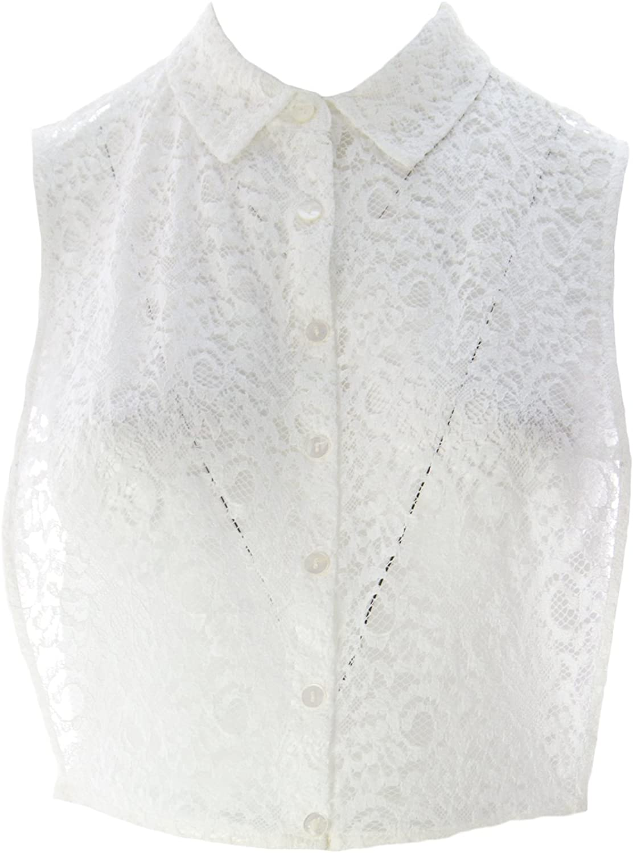 Marina Rinaldi Women's Queen Sheer Lace Vest