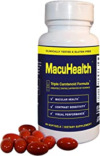 MacuHealth Eye Vitamins Supplement for Adults (90 Softgels, 3 Month Supply) Eye Formula with...