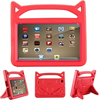 Riaour Tablet 7 2019 Case,Light Weight Shock Proof Convertible Handle Stand EVA Protective Kids Case for 7 inch Display Tablet (Compatible with 9th Generation 2019/7th Generation 2017)