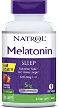 Natrol Melatonin Fast Dissolve Tablets, Helps You Fall Asleep Faster, Stay Asleep Longer, Easy to Take, Dissolve in Mouth,...