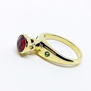 Incredibile anello realizzato in oro massiccio 18 carati con un eccezionale zaffiro rotondo rosso arancio naturale da 1,09...