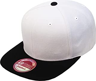 Classic Snapback Hat Blank Cap - Wool Blend Flat Visor