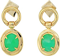Alexis Bittar - Swinging Stone Seatpost Earrings