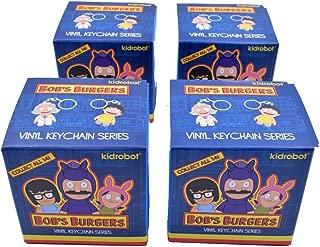 Set of 4: Bob's Burgers Blind Box Vinyl Figure Keychain Series by Kidrobot