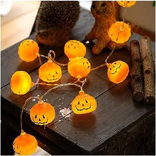 Halloween Pumpkin String Lights | 20LED 3D Jack-O-Lantern Pumpkin Light Decor Christmas, Party, Holiday Rope Lights (20pcs, Orange)