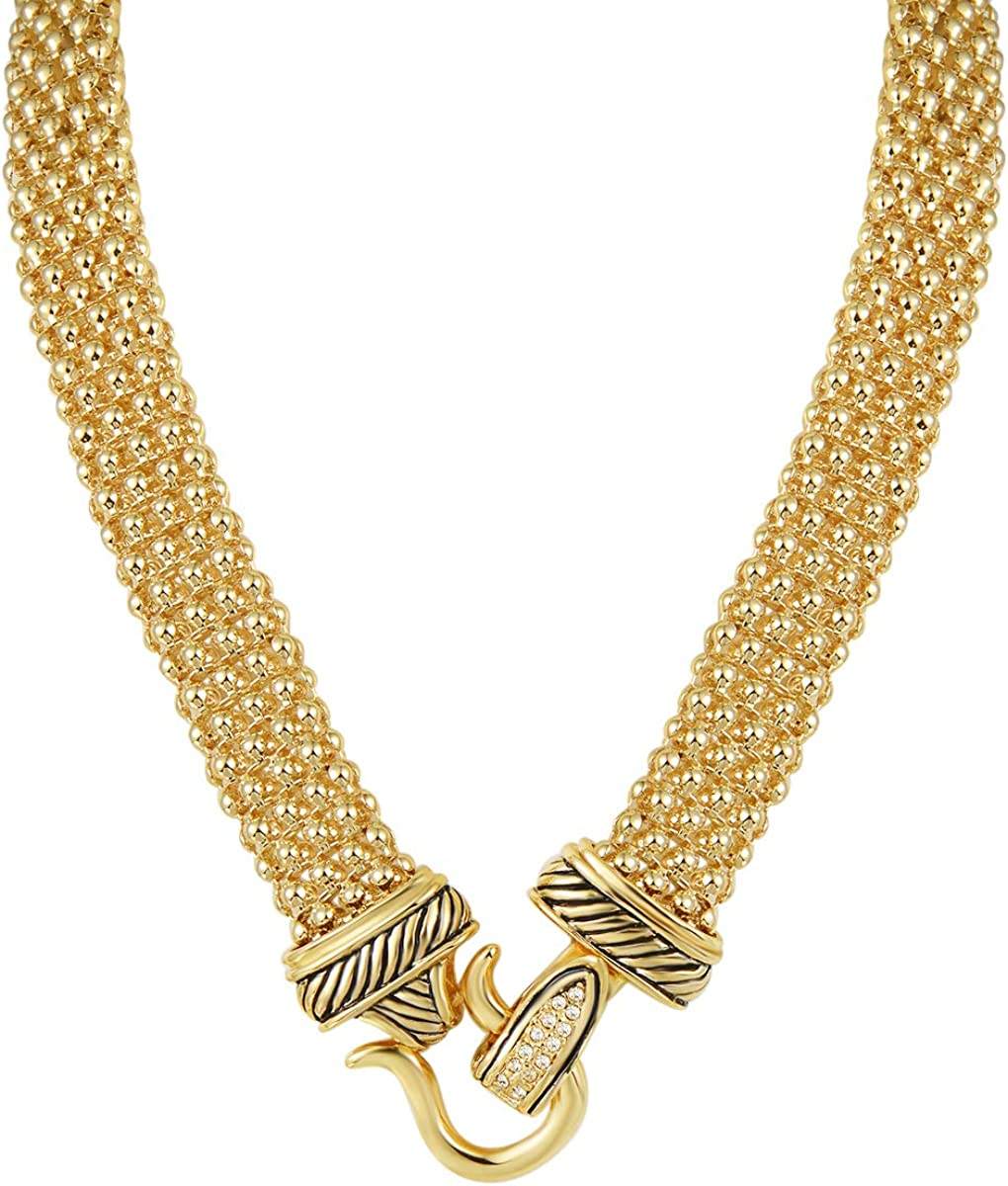 Austin Mall UNY Popular shop is the lowest price challenge Short Necklace 48cm Popcorn Claps Classic Chain Magnetic Ele