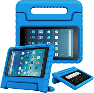 Fintie Case for All-New Fire HD 8 Tablet (7th and 8th Generation Tablets, 2017 and 2018 Releases) - [Kids Friendly] Shock Proof Light Weight Convertible Handle Stand Protective Cover, Blue