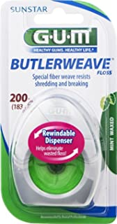 GUM Butlerweave Floss Mint Waxed 200 yd (Pack of 2)