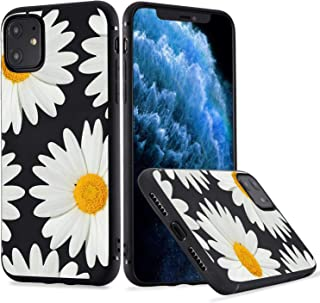 MAYCARI Daisy Flower Print Phone Case for iPhone11 Pro,Cute Floral Patterned Case Cover,Soft TPU Cover Flexible Ultra Sli...