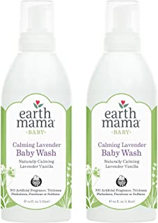 Earth Mama Calming Lavender Baby Wash with Gentle Castile Soap for Sensitive Skin, 34-Fluid Ounce (2-Pack)