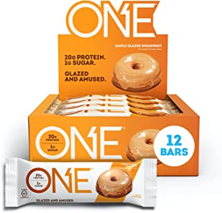 ONE Protein Bars, Maple Glazed Doughnut, Gluten-Free Protein Bar with 20g Protein and only 1g Sugar, Snacking for High Pro...