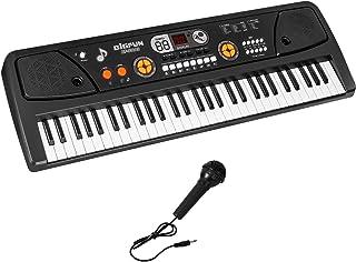 M SANMERSEN Kids Keyboard Piano 61 Key Electronic Piano with