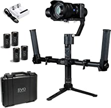 EVO Rage Gen2 Camera Stabilizer for DSLR or Mirrorless Cameras, Bundle Includes: EVO Rage Gen2, Pro-Grip Dual Handles and Extra Batteries (3 Items)