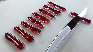 Lot de porte-couteaux rouge - artisanat- déco table - orignal - art de la table