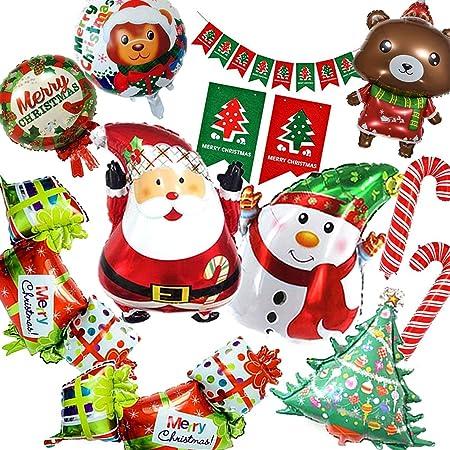 七色良品 クリスマス バルーン 飾り イベント パーティー セット (ハッピーギフト)