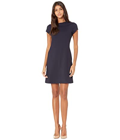 Susana Monaco Short Sleeve A-Line Dress (Midnight) Women