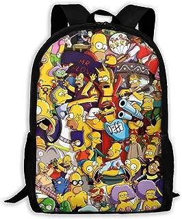 Children's School Bags Sim-psons Printing Backpacks Kids Daypack For Boys Girls