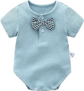ملابس صيفية للأطفال بألوان الحلوى رومبير للأطفال حديثي الولادة من 0-24 شهرًا (Color : Blue, Size : 80CM)