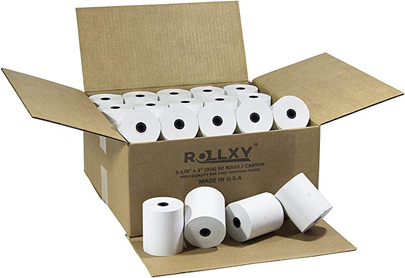 50 Rolls BPA FREE ROLLXY Thermal Paper 3 1 8 X 230 Feet CT S300