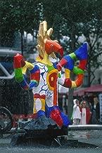 EuroGraphics Fountain Sculpture at Centre Pompidou Museum, Paris, ILE de France, France Giclee Art Print Poster or Canvas