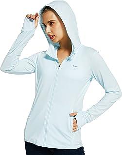 Willit Women's Sun Protection Jacket Hoodie UPF 50+ SPF Shirt Long Sleeve Lightweight Hiking Outdoor Shirt Full Zip