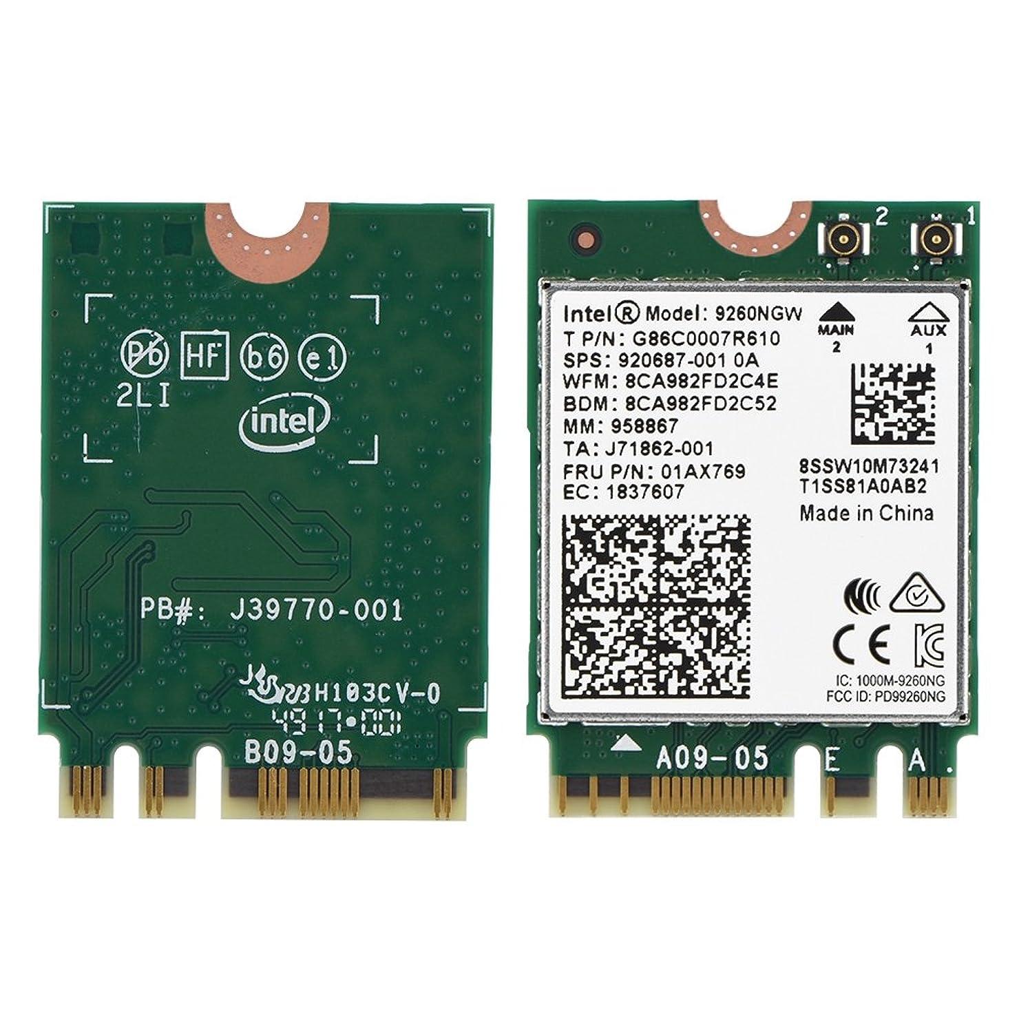 ハシー研究所聴くFosa 1730Mbpsインテル9260NGW NGFFワイヤレスWifiカード、高速2.4G + 5Gデュアルバンド802.11ac WiFiモジュールワイヤレスカード、サポートLinux/Chrome / Windows 10オペレートシステム