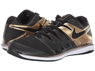 Nike Air Zoom Vapor X (Black/Black/Metallic Gold/White) Men