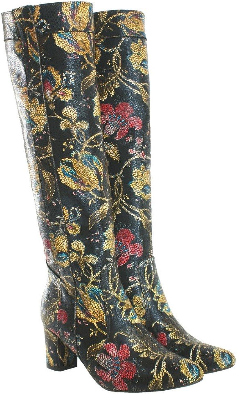 BOSCCOLO 4673 4673 Stiefel Blaumendesign, Stiefel Flower Design, Stiefel Fleur Design  Mode