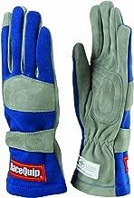 RaceQuip 351023 351 Series Medium Blue SFI 3.3/1 One Layer Racing Gloves
