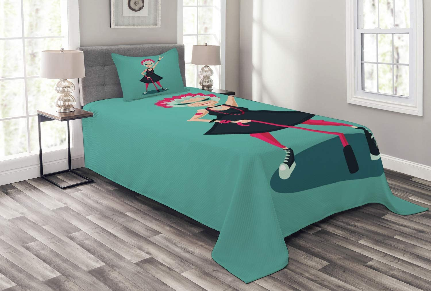 Ambesonne Retirement Party Bedspread Character Cartoon Forever Cash special Popular price