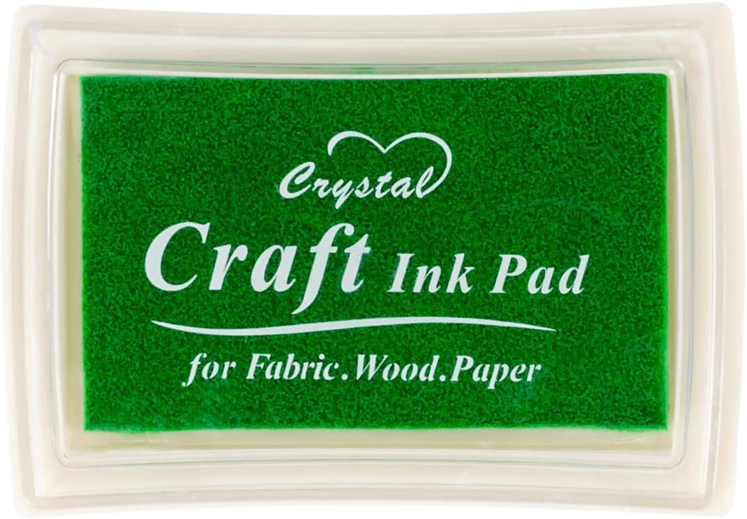 Green Ink Pad Finger Washable Stamp Stam Rubber Fresno Mall for Outstanding Kids