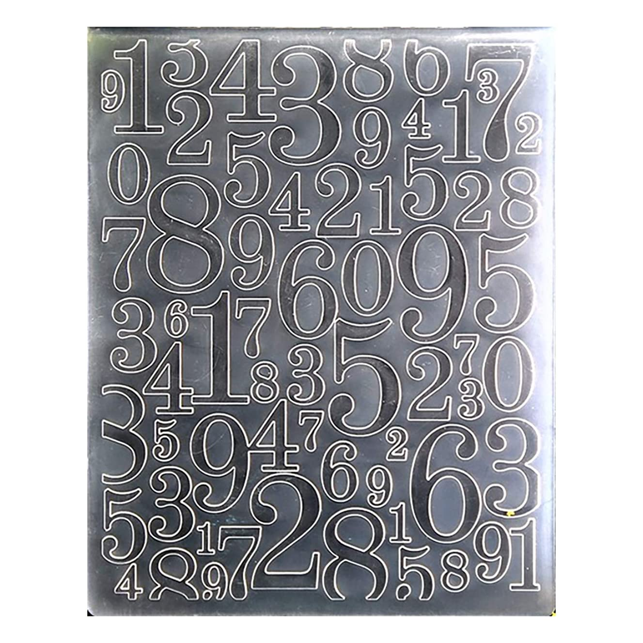 Kwan Crafts Numbers 0-9 Plastic Embossing Folders for Card Making Scrapbooking and Other Paper Crafts, 12.1x15.2cm