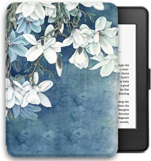 Young me martShell Case for Kindle with Hand Strap - The Thinnest and Lightest Leather Cover Auto Sleep/Wake for All-New Kindle (8th Gen 2016 Release, Does not fit Kindle Paperwhite) (Kapok)